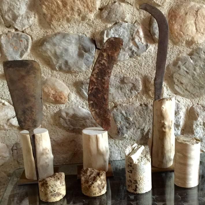 Esculturas con nuevos materiales reciclados.