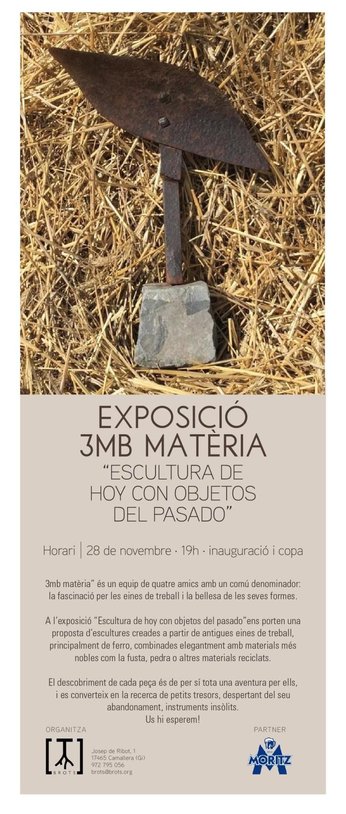 Exposición 3mb materia en espai BROTS.