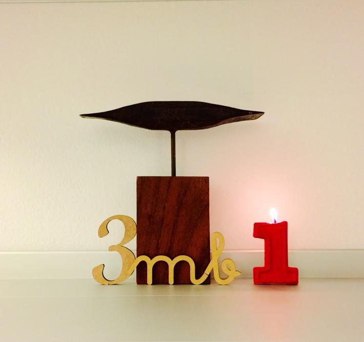 3mb materia. Primer aniversario. Esculturas de materiales reciclados.