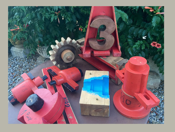 Moldes industriales vintage para esculturas