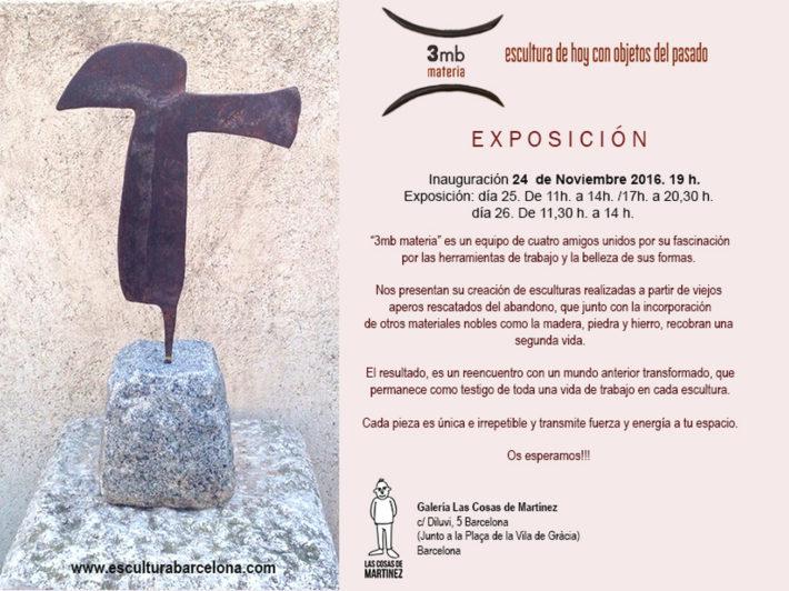 Próxima Exposición 3mb materia en Barcelona