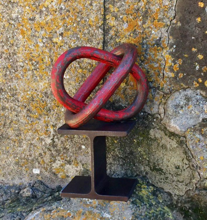 Arte industrial. Reciclaje hecho escultura