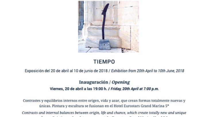Exposición 3mb materia en el Hotel Eurostars Grand Marina de Barcelona.