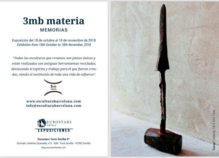 """3mb materia. """"MEMORIAS"""". Exposición Hotel Eurostars Torre Sevilla 5*"""
